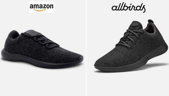 """亚马逊""""山寨""""的产品鞋"""