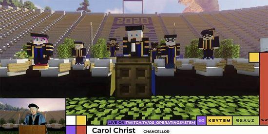 加利福尼亚大学伯克利分校在《我的世界》中举办毕业典礼。